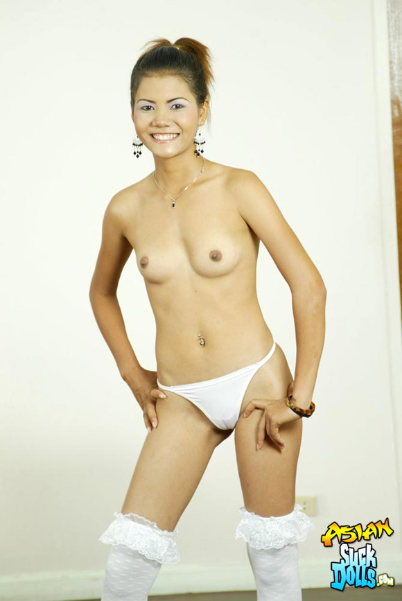 slim-brunette-strips-from-white-outfit